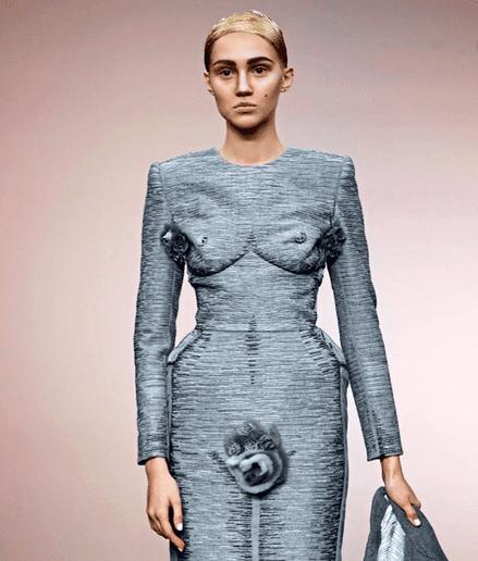 Vagina Kleid von Thom Browne