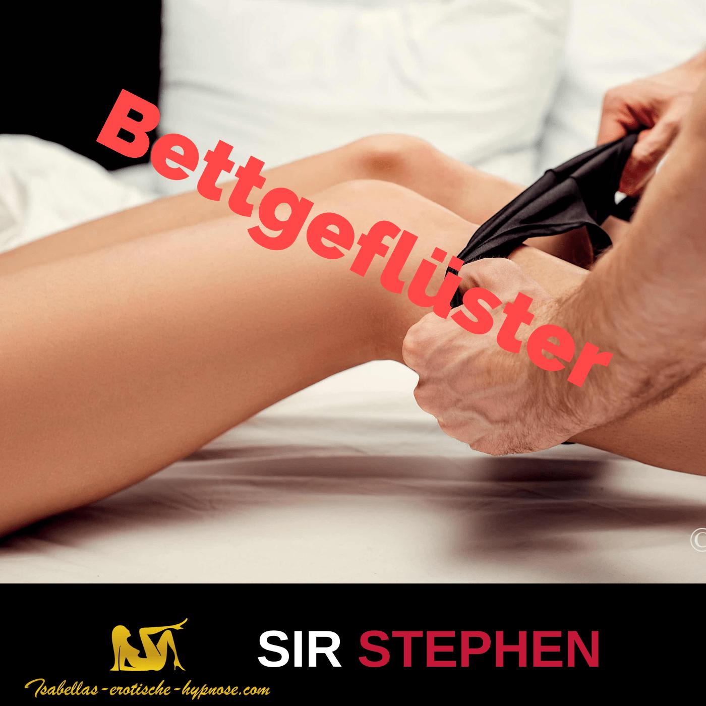Bettgeflüster mit Sir Stephen Coverbild Mann zieht Frau das Höschen aus